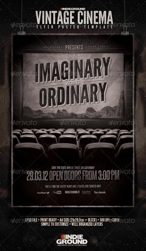 GraphicRiver Vintage Cinema Flyer Poster 1694405