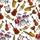 Seamless Pattern of Orchestra Musical Instruments