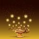 Gold Glitters and Aladdin Lamp