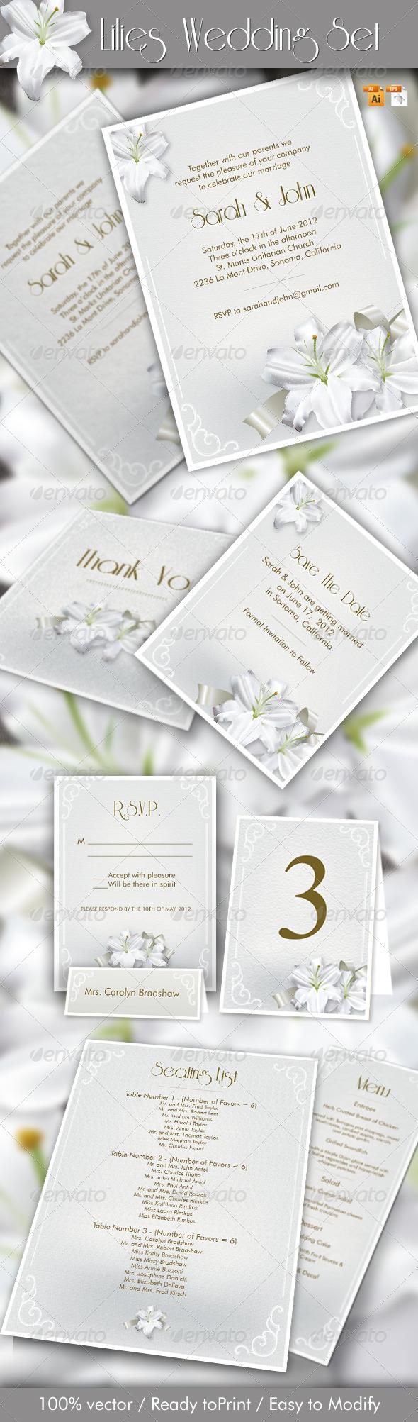Lilies Wedding Set