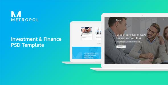 Metropol - Investment & Finance PSD Template