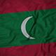 Ruffled Flag of Maldives