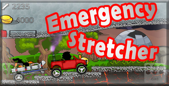 Emergency Stretcher - iOS xCode & Buildbox Game Template