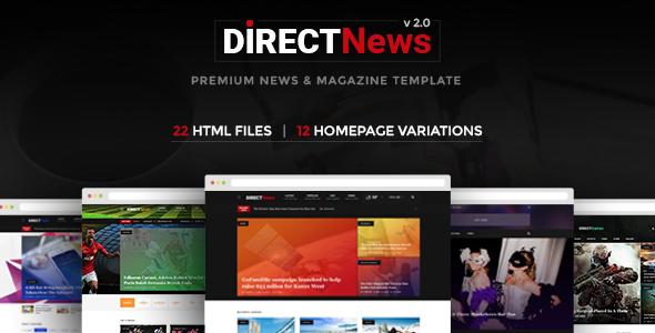 DirectNews - News & Magazine HTML Template