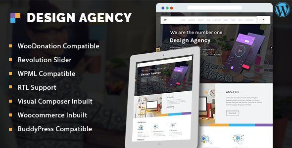 Design Agency - Corporate Business Multi-Purpose WordPress Theme