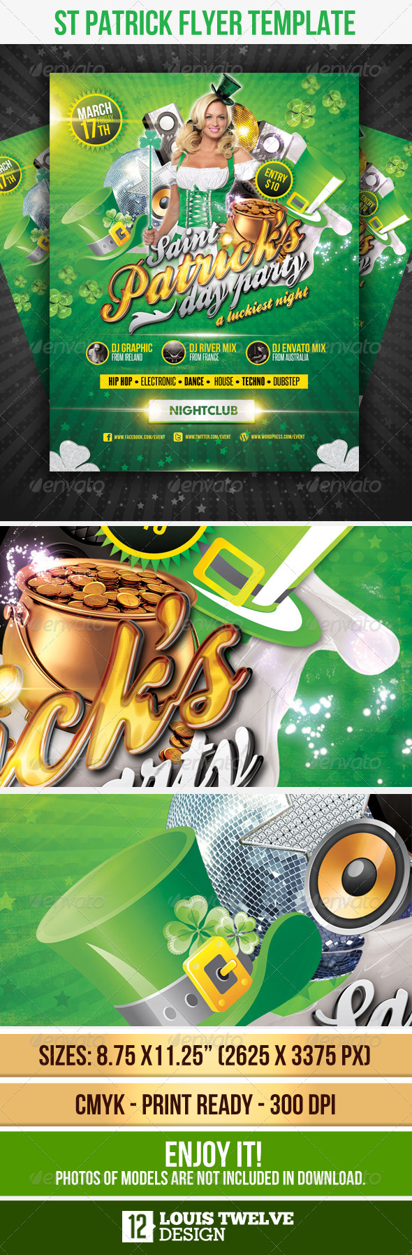 St Patricks Flyer Template - Flyers Print Templates