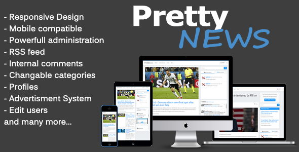 Download PrettyNews - Newspaper & Magazine CMS nulled download