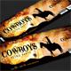 Cowboys Retro Party Event Ticket
