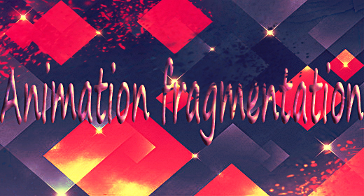 Animation fragmentation(3ds max 2015- cinema 4D-animation)