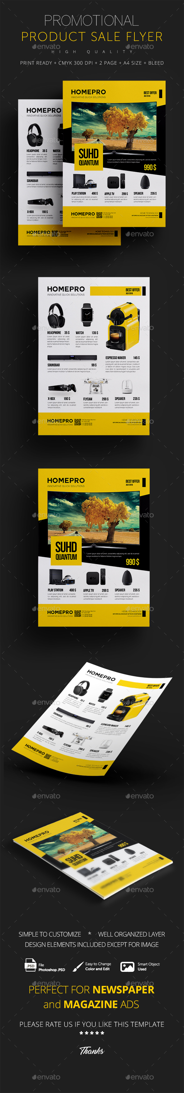 Product Flyer Graphics Designs Templates from GraphicRiver – Product Flyer