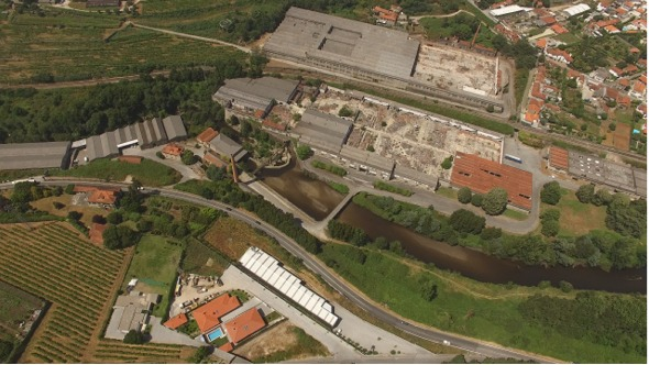 VideoHive Flying Over Abandoned Factory 17017233