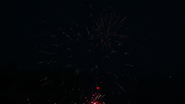VideoHive Fireworks Flashing In The Night 17017688
