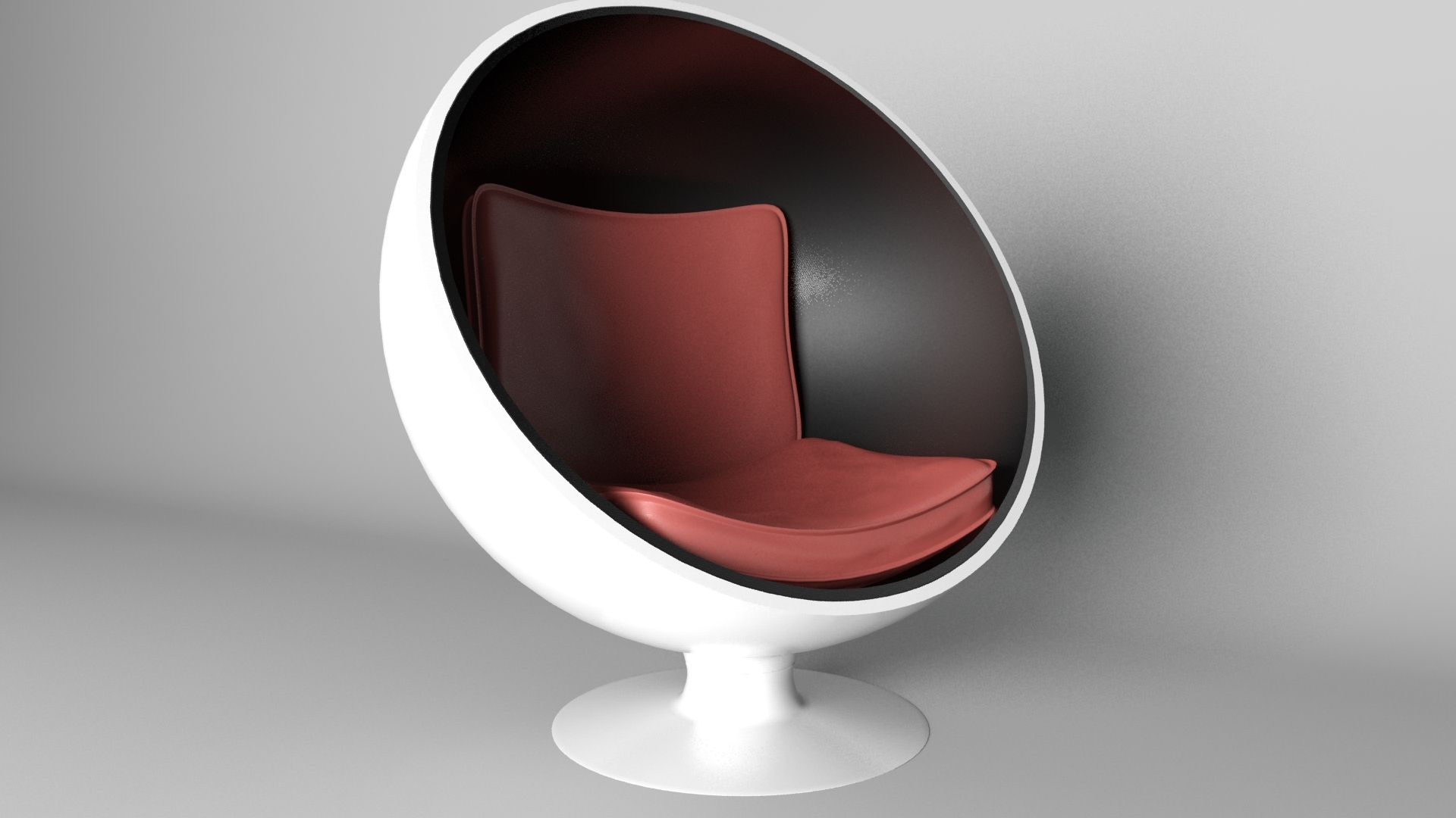 Sphere Chair With Modern Seat Rander In Mantal Ray by
