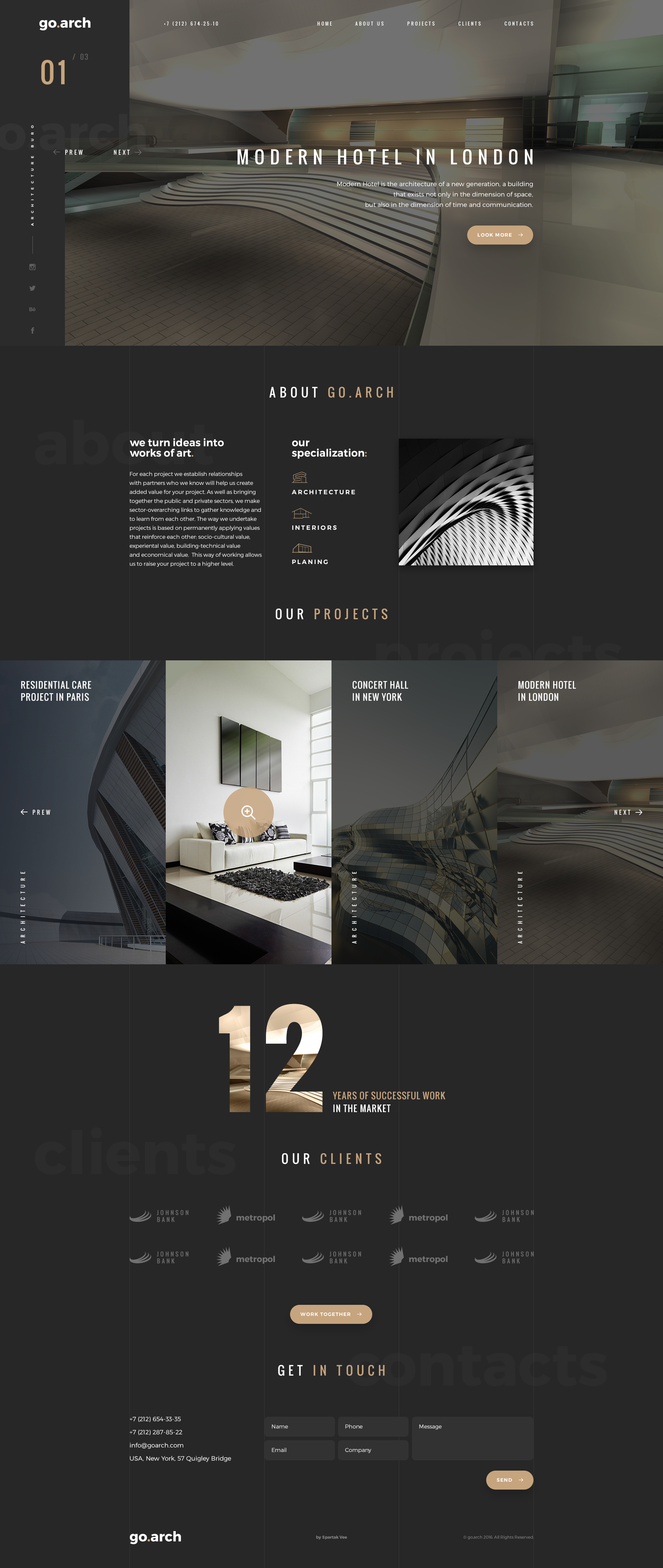 Color Ideas Website : go.arch Architecture PSD Template PSD Templates ThemeForest