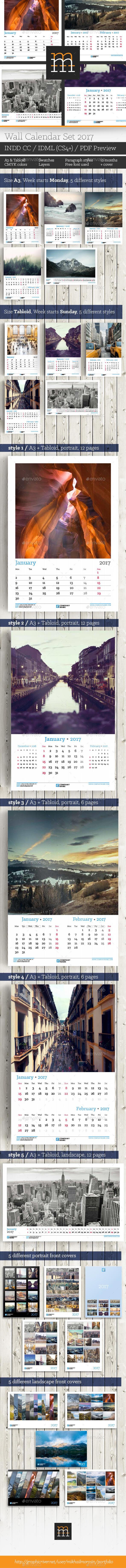 Wall Calendar Set 2017