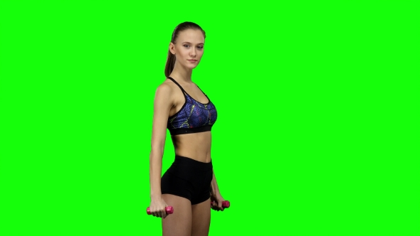 Download Woman Fitness Instructor Doing Exercises nulled download