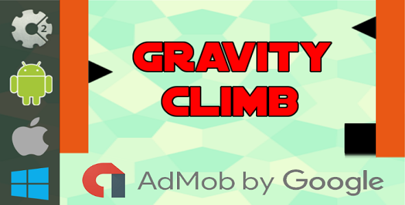 Gravity Climb - HTML5 Game + Admob (Construct 2 - CAPX)