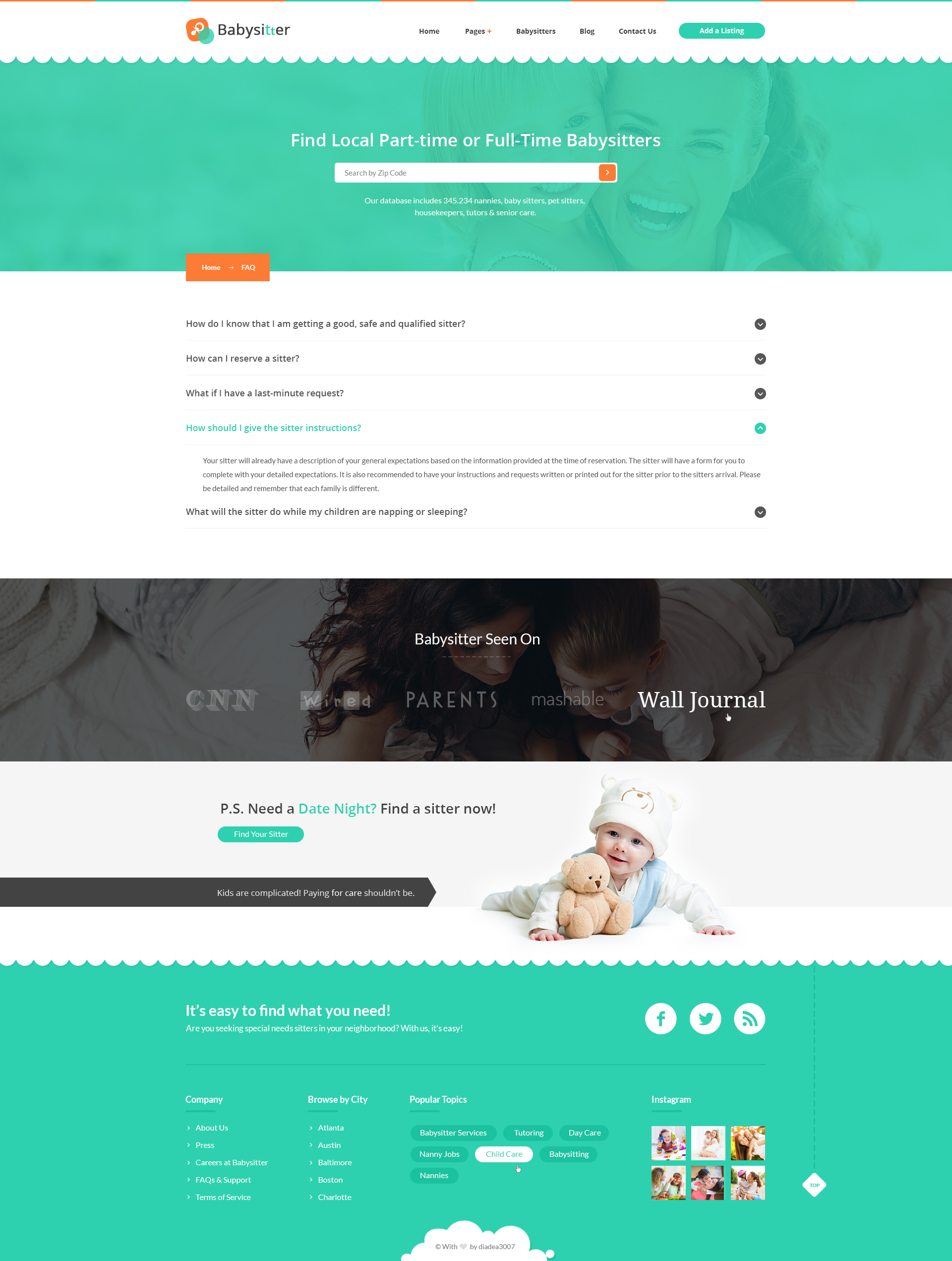 babysitter directory babysitting psd template by diadea3007 07 listing single post babysitter jpg 08 add a listing step 1 jpg 09 add a listing step 2 jpg 10 add a listing step 3 jpg 11 add a listing step 4 jpg