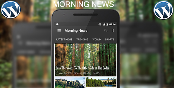 Morning News 2.0 (WordPress Android App) - Admob