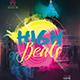 High Beats Party Flyer