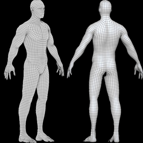 Base Mesh Male_Low Poly Male