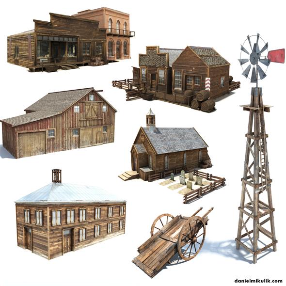 3DOcean Wild West Bundle 17036227