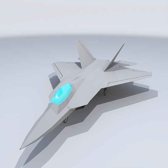 Lowpoly F-22 Raptor - 3DOcean Item for Sale