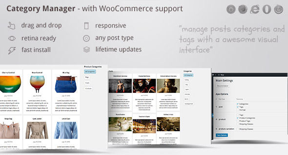 Download Category Manager - with Drag, Drop and WooCommerce nulled download
