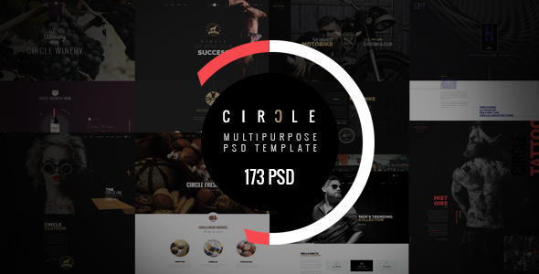 CIRCLE - Creative Multipurpose PSD Template