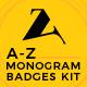 Monogram. Badges. A to Z Logos