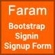 Faram - Sign in/Sign up forms