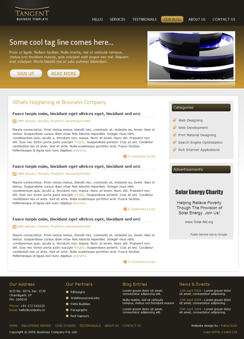 Tangent Business Template