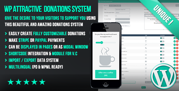 WP Attractive Donations System - Easy Stripe & Paypal donations