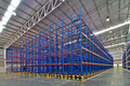 Pallet racking system for warehouse storage metal shelving