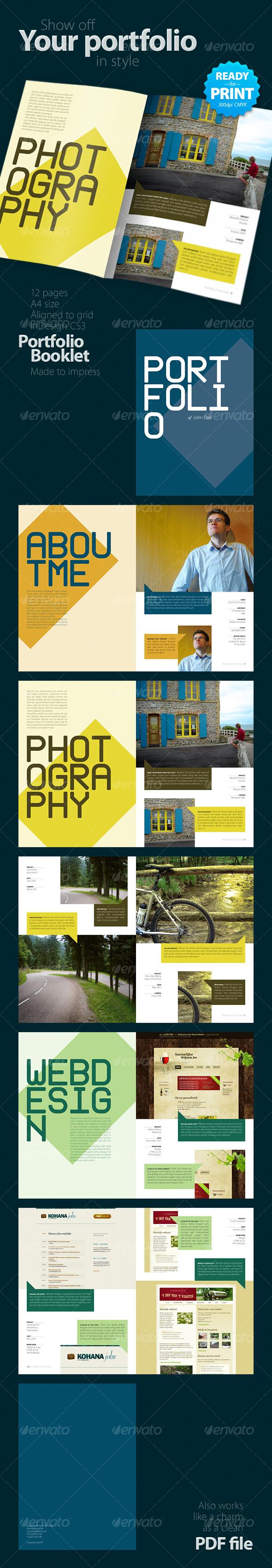GraphicRiver Portfolio Booklet 12 pages 66218