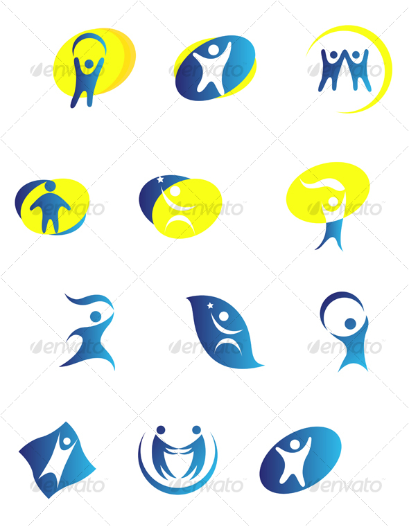 People signs - Decorative Vectors