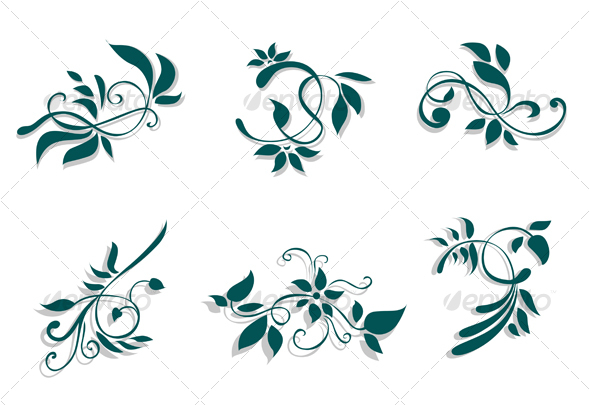 Floral decorations - Flourishes / Swirls Decorative