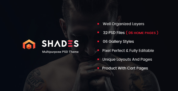 Shades - Creative Multipurpose PSD Template