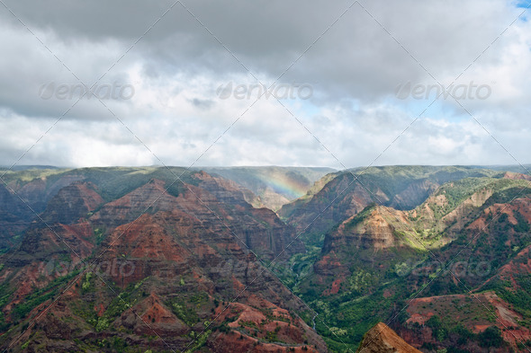 Waimea Canyon - Kauai, Hawaii - Stock Photo - Images