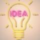 Idea Light Bulb Neon