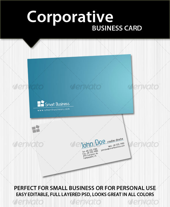 Corporative Business Card - Corporate Business Cards