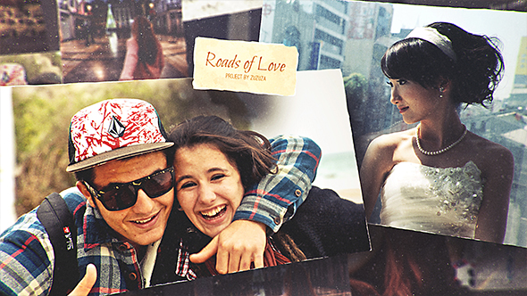 VideoHive Roads of Love Romantic Slideshow 17057671