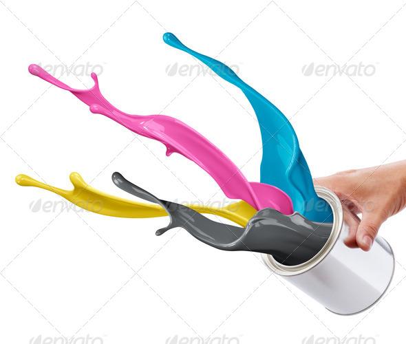 PhotoDune CMYK paint splash 1696793