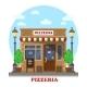 City Italian Pizzeria Facade Front View