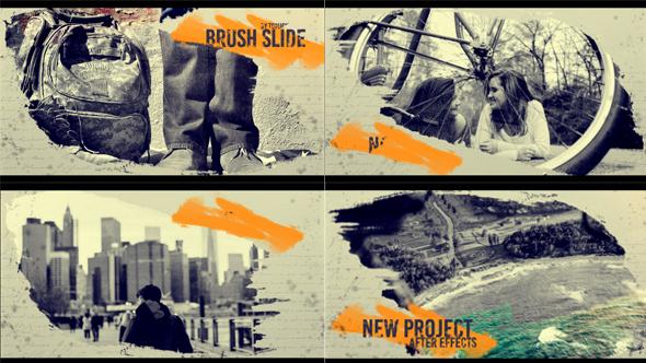 Brush Slide 筆刷動畫-Videohive中文最全的AE After Effects素材分享平台