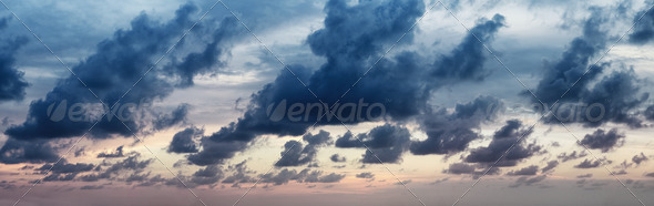 Panorama of dramatic cloudy sky - Stock Photo - Images