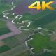 Aerial Meandering Rivers
