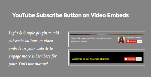 YouTube Subscribe Button on Video Embeds