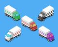 Isometric Delivery Van Car Icon
