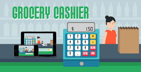 Download Grocery Cashier - HTML5 Game nulled download